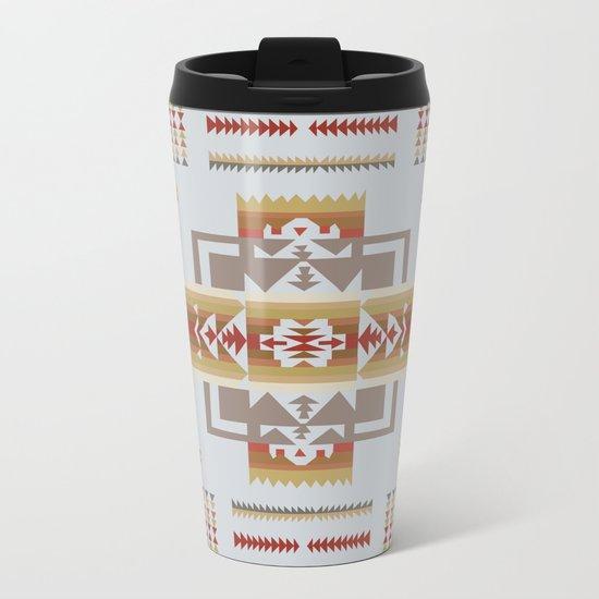 American Native Pattern No. 11 Metal Travel Mug