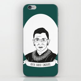 Ruth Bader Ginsburg Illustrated Portrait iPhone Skin
