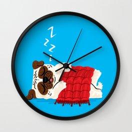 Pug In A Rug Wall Clock