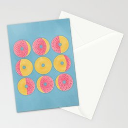 Moon Phase Donuts Stationery Cards