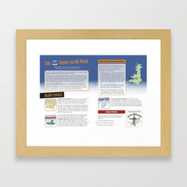 UK Peril Alert System Framed Art Print