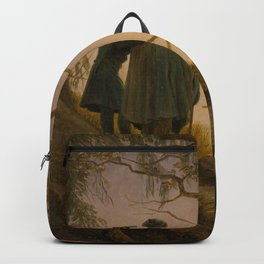 Caspar David Friedrich - Two Men Contemplating the Moon Backpack
