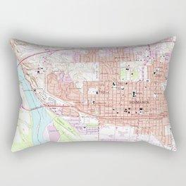 Vintage Map of Bismark North Dakota (1962) Rectangular Pillow