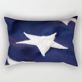 Focus On American Flag Star Rectangular Pillow