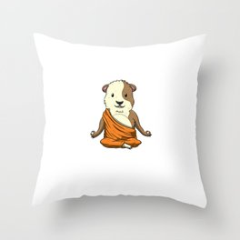 Keep Calm And Love Guinea Pigs Meditation Buddhism Zen Cavy Throw Pillow