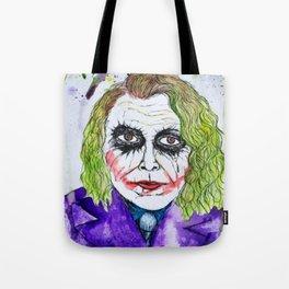The Joker Watercolor Tote Bag