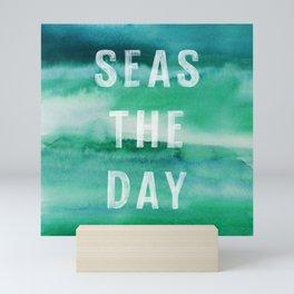 Seas The Day - Modern Typography Print Mini Art Print