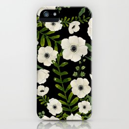 Anemone Floral Print iPhone Case
