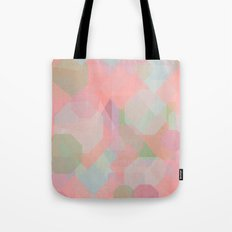 Hexagon, Square and Diamond Patterned Abstract Design Tote Bag