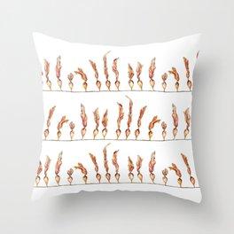 Seaweed Stripes Throw Pillow