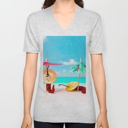 The Red, the Hot, the Chili on the beach Unisex V-Neck