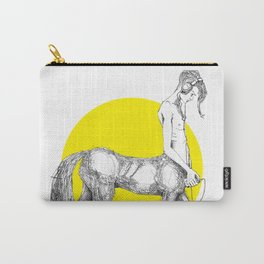 Young centaur with headphones and mp3 player Carry-All Pouch