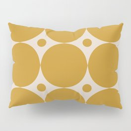 Futura Mid-century Modern Minimalist Abstract Pattern in Mustard Gold Pillow Sham