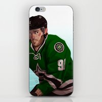 tyler spangler iPhone & iPod Skins featuring tyler seguin by molly murakami