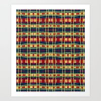 Cabo Plaid Fall Art Print