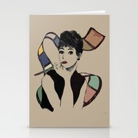 hepburn Stationery Cards featuring hepburn by jessica