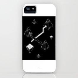 Black Space Pyramids iPhone Case