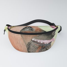 Afghan Lady In Flower Shower  Fanny Pack