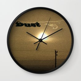 Dust Wall Clock