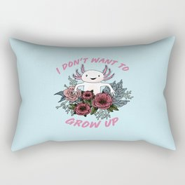 I don't want to grow up - cute axolotl Rectangular Pillow