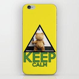 """Keep Calm """"Ted"""" iPhone Skin"""
