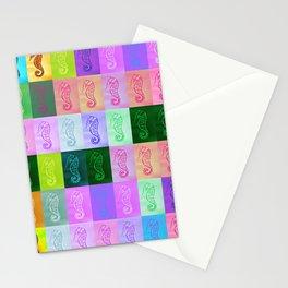 Rainbow Seahorses Stationery Cards