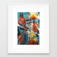 indian Framed Art Prints featuring Indian by ketizoloto