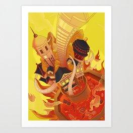 ChongQing city.Framed Art Print Art Print
