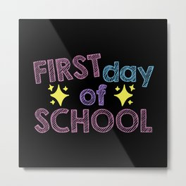 1st Day Of Primary School Enrollment child Metal Print
