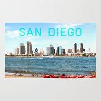 san diego Area & Throw Rugs featuring San Diego  by Natasha Alexandra Englehardt