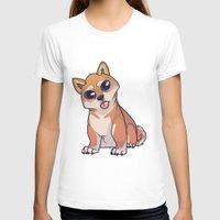 shiba inu T-shirts featuring Shiba Inu by Suzanne Annaars
