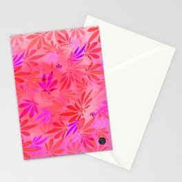 Blush Cannabis Swirl Stationery Cards