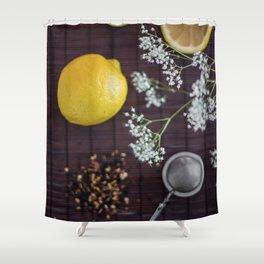 Lemon and tea Shower Curtain