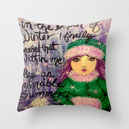 Perspective of Winter Throw Pillow