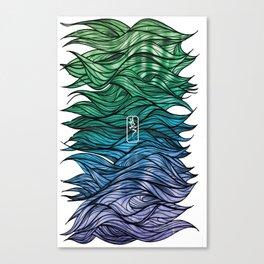Coloured Hairyness Canvas Print