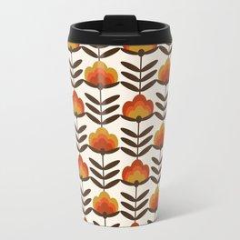 Boogie - retro florals minimal trendy 70s style throwback flower pattern Travel Mug