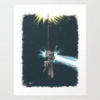 Rey of Light Art Print