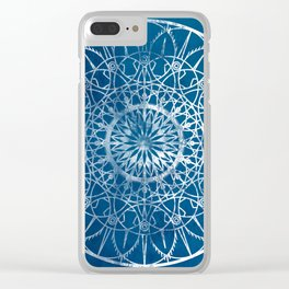 Fire Blossom - Blue Clear iPhone Case