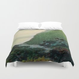 Mists In The Pitons: St. Lucia Duvet Cover