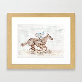 Race Horse, Derby, Kentucky, Framed Art Print