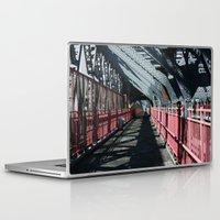 rileigh smirl Laptop & iPad Skins featuring Williamsburg Bridge by Rileigh Smirl