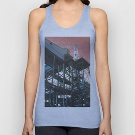 INDUSTRIAL JUNGLE - RED Unisex Tank Top