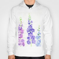 dolphins Hoodies featuring Dolphins by Kate Havekost Fine Art