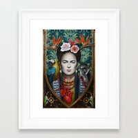 frida Framed Art Prints featuring Frida by Sophie Wilkins