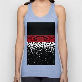 Animal Print Cheetah Black White Red Unisex Tank Top