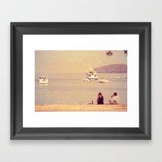 Sea & Love Framed Art Print