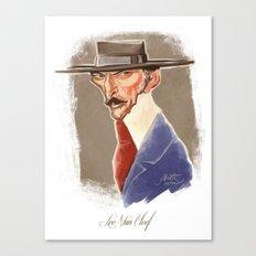 Lee Van Cleef caricature Canvas Print