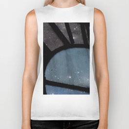 Starry Night - Clock Tower Biker Tank