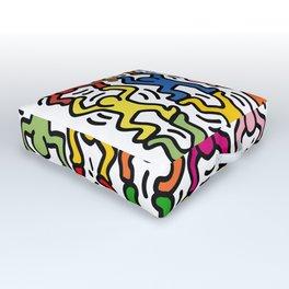 Homage to Keith Haring Acrobats II Outdoor Floor Cushion