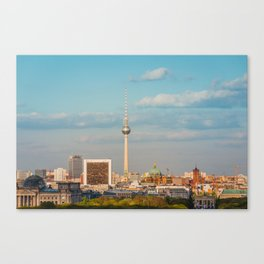 Berlin City Skyline - Cityscape and Tv Tower in Berlin, Germany Canvas Print